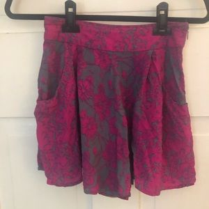 Free People Size 2 Purple and Gray Mini Skirt
